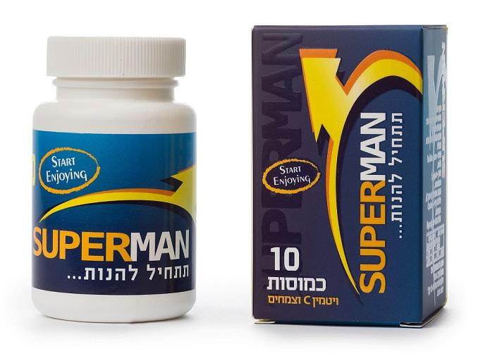 כמוסות לשיפור הזיקפה - SUPER MAN - באישור משרד הבריאות